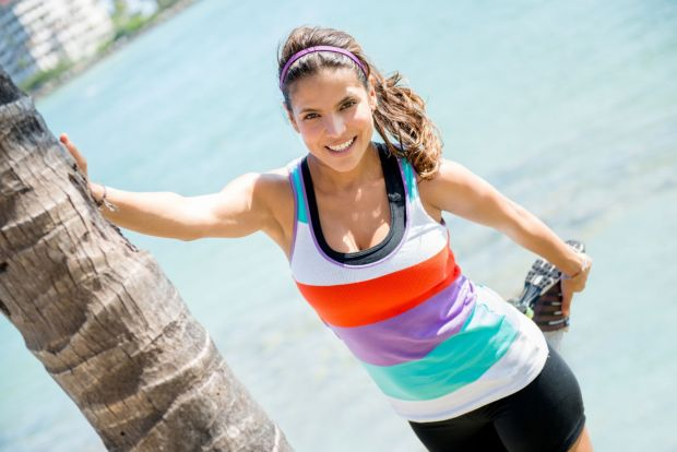 Athletic woman stretching before her workout outdoors, Image: 163278973, License: Royalty-free, Restrictions: , Model Release: yes, Credit line: Profimedia, Alamy