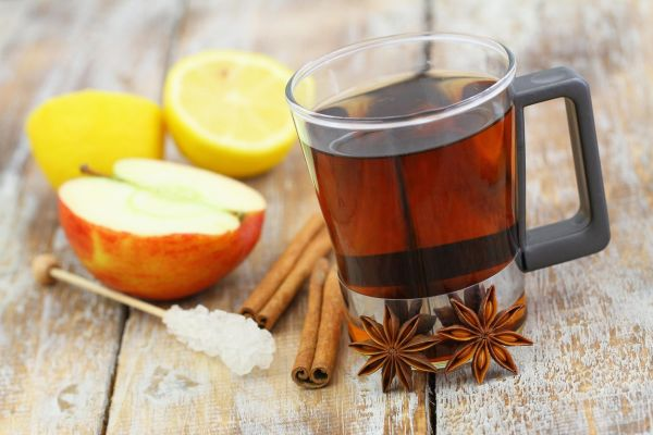 Glass of tea, star anise, cinnamon, apple and lemon, Image: 208835708, License: Royalty-free, Restrictions: , Model Release: no, Credit line: Profimedia, Alamy