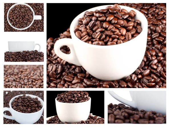 Collage of coffee and beans, Image: 138513537, License: Royalty-free, Restrictions: , Model Release: no, Credit line: Profimedia, Wavebreak