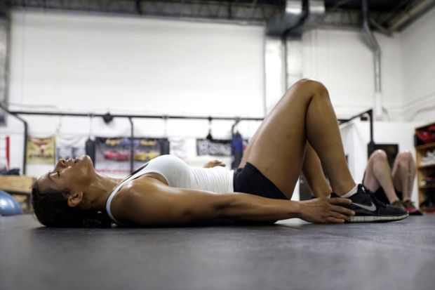 April 24, 2013 - Schaumburg, Illinois, U.S. - FALLON FOX trains at her local gym. Fallon found herself in the spotlight after coming out as a transgender fighter in mixed martial arts., Image: 167840382, License: Rights-managed, Restrictions: , Model Release: no, Credit line: Profimedia, Zuma Press - News