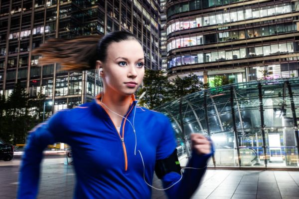 Young woman jogging outside in the city, Image: 269267644, License: Royalty-free, Restrictions: , Model Release: yes, Credit line: Profimedia, Alamy