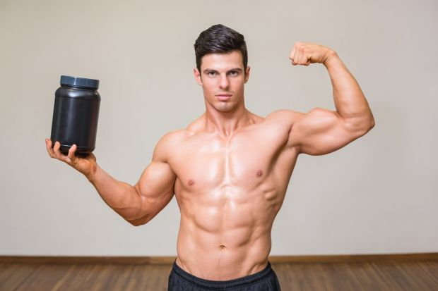 Portrait of a muscular man posing with nutritional supplement in gym, Image: 198593076, License: Royalty-free, Restrictions: , Model Release: yes, Credit line: Profimedia, Wavebreak