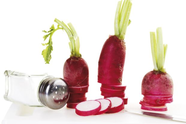 Red radishes with salt shaker, Image: 43369541, License: Royalty-free, Restrictions: , Model Release: no, Credit line: Profimedia, imageBROKER