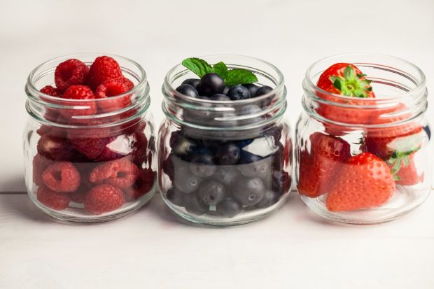 Glass jars of fresh berries on wooden table, Image: 260054409, License: Royalty-free, Restrictions: , Model Release: no, Credit line: Profimedia, Wavebreak