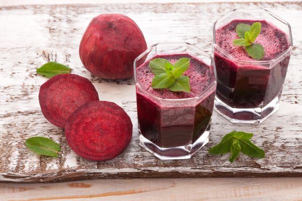 beet Juices and vegetables on white wooden table top view, Image: 238877886, License: Royalty-free, Restrictions: , Model Release: no, Credit line: Profimedia, Alamy