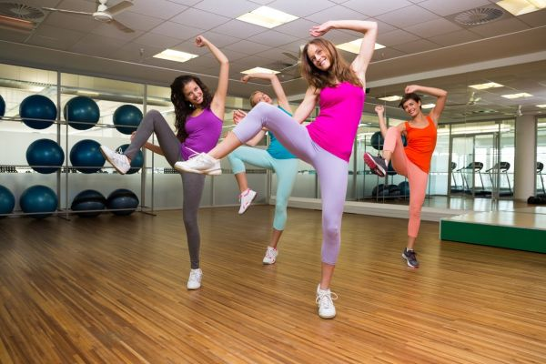 Zumba class dancing in studio at the gym, Image: 198579221, License: Royalty-free, Restrictions: , Model Release: yes, Credit line: Profimedia, Wavebreak