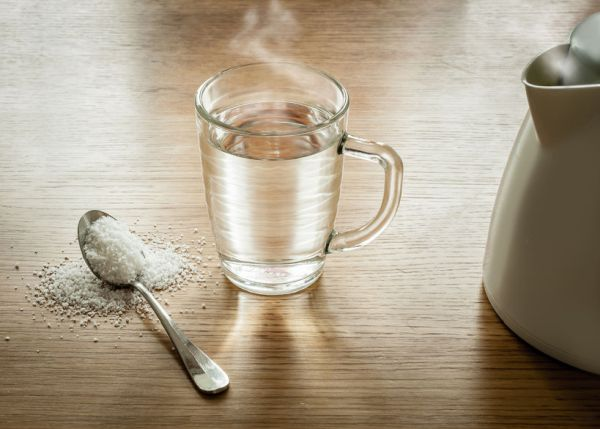 40676926 - a home remedy for a soar throat: salt and hot water.