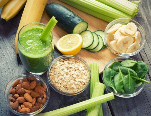 38917826 - green fresh healthy smoothie with fruits and vegetables