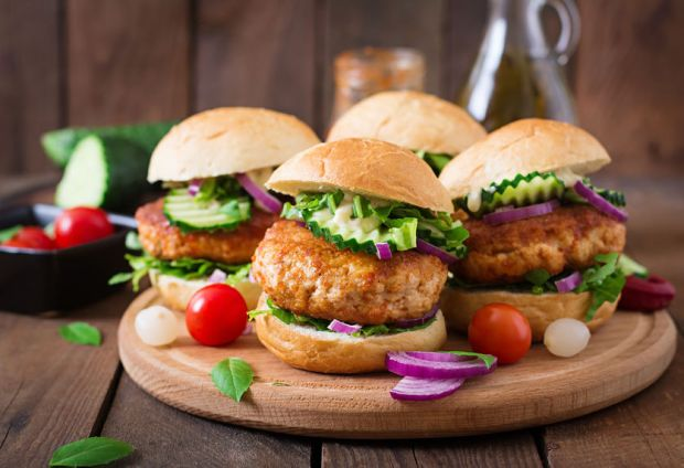 48125568 - juicy spicy chicken burgers to asian-style - sandwich
