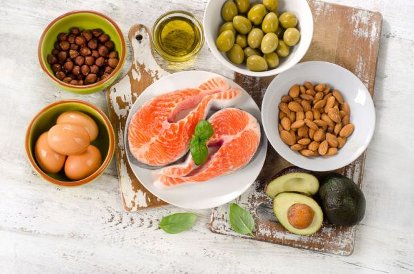 60157766 - good fats sources. healthy eating, dieting. top view