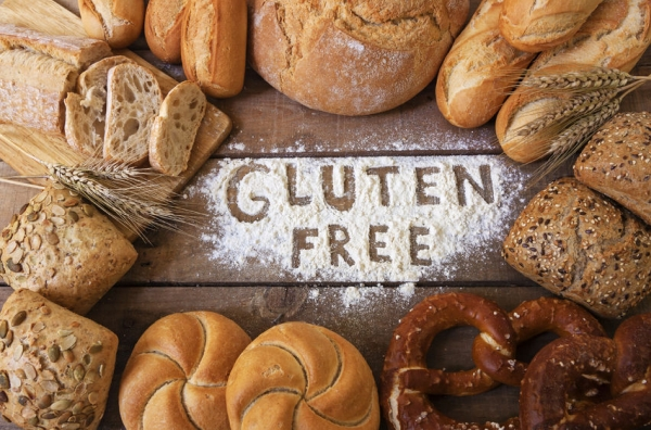 41510424 - a gluten free breads on wood background