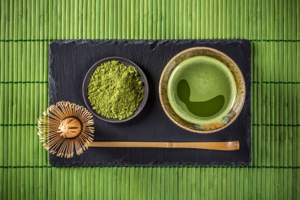 51629488 - japanese tea ceremony setting, matcha green tea
