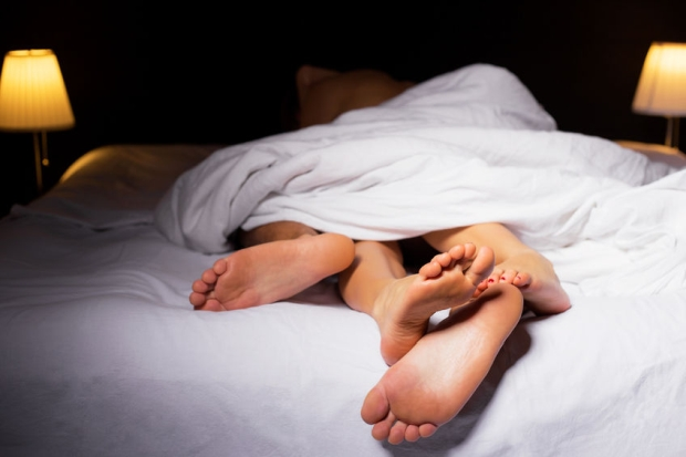 49750118 - couple sleeping in bed