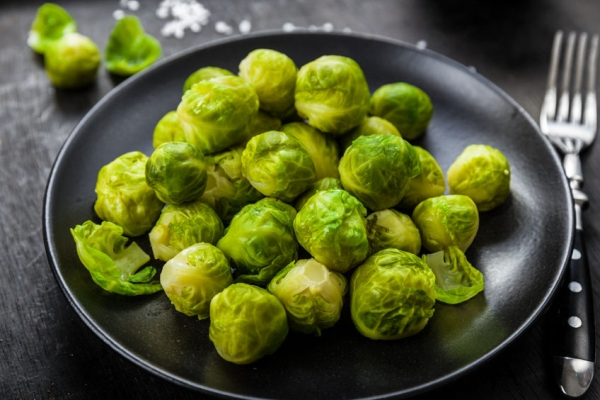 46700576 - brussels sprouts cooked on a plate