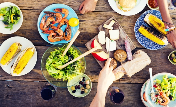 45629559 - food table celebration delicious party meal concept