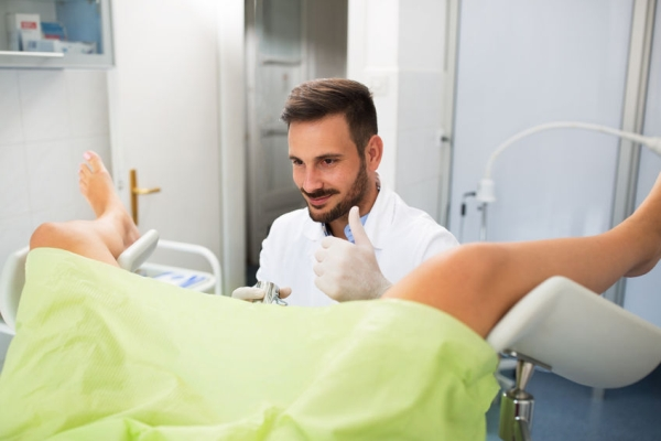 66261930 - success gynecologist examination, doctor with patient doing gynecology exam
