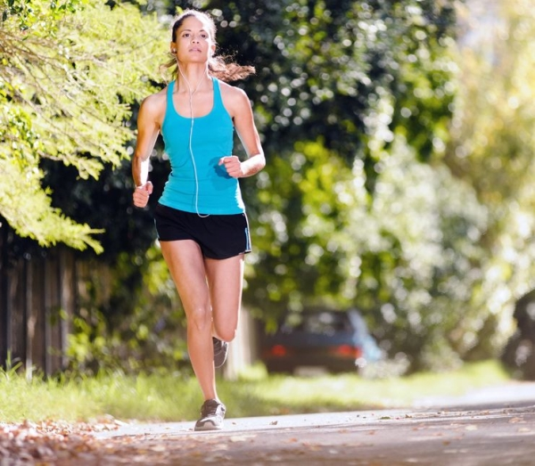 14342192 - running healthy fitness woman training for marathon outdoors in alleyway  vitality lifestyle exercise athlete