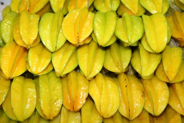 14737904 - the star fruit or carambola fruit was managed for sale in the market