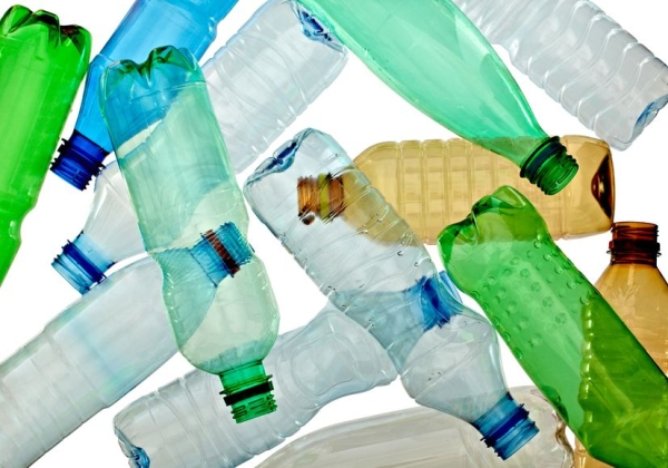 9198442 - close up of empty used plastic bottles on white background with clipping path
