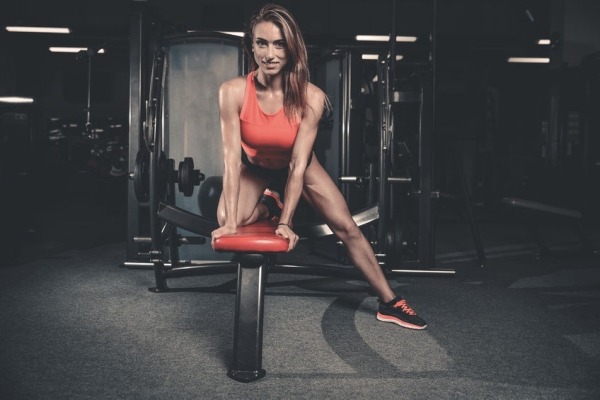 77604691 - fitness sexy mode on diet with long female legs in the gym
