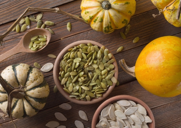 47434352 - pumpkin with seeds