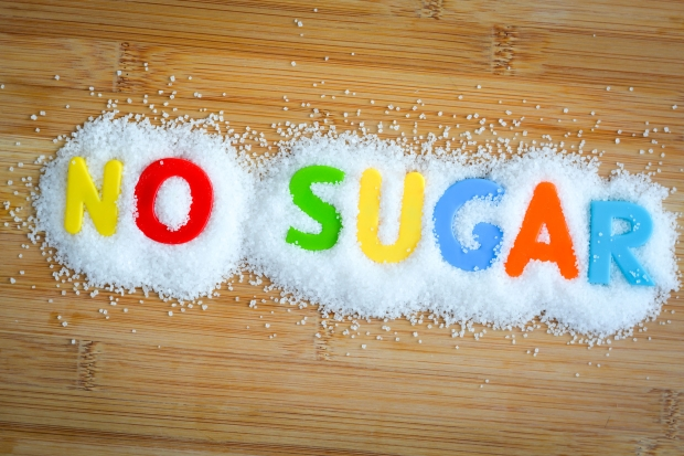 73495028 - no sugar text from magnetic letters concept on wooden background