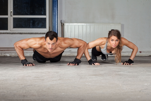 37460529 - crossfit push up exercise