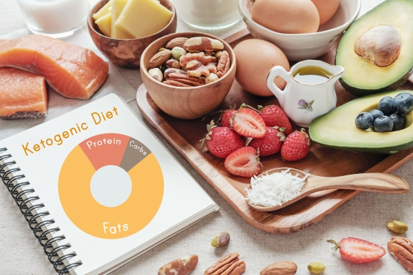 95018472 - keto, ketogenic diet, low carb, high good fat ,  healthy food