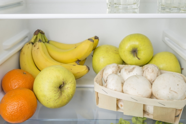 78053500 - open fridge full of fresh fruits and vegetables, healthy food background, organic nutrition, health care, dieting concept
