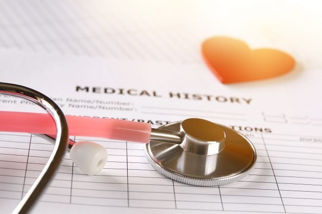 69957862 - image of heart and stethoscope. medical concept.