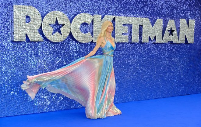 "LONDON, ENGLAND - MAY 20:  Claudia Shiffer attends the UK Premiere of ""Rocketman"" at Odeon Luxe Leicester Square on May 20, 2019 in London, England.  (Photo by David M. Benett/Dave Benett/WireImage)"